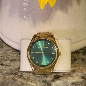 Emerald green and gold Michael Kors watch